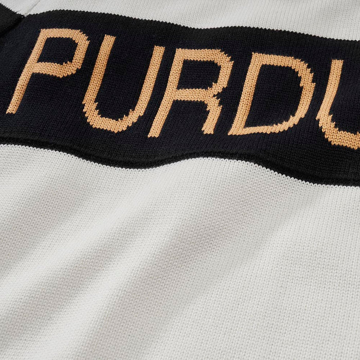 Women's Purdue Retro Stripe Sweater