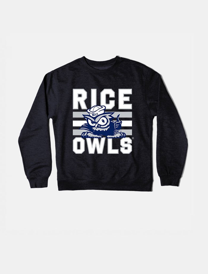 Rice Vintage Triple Stripe Crewneck Sweatshirt