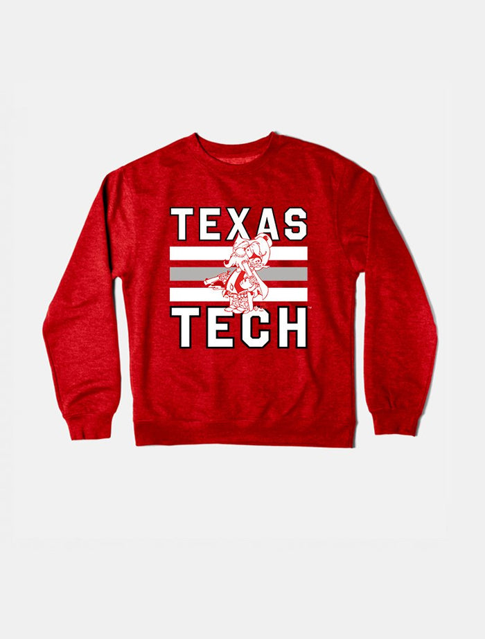 Texas Tech Vintage Triple Stripe Crewneck Sweatshirt