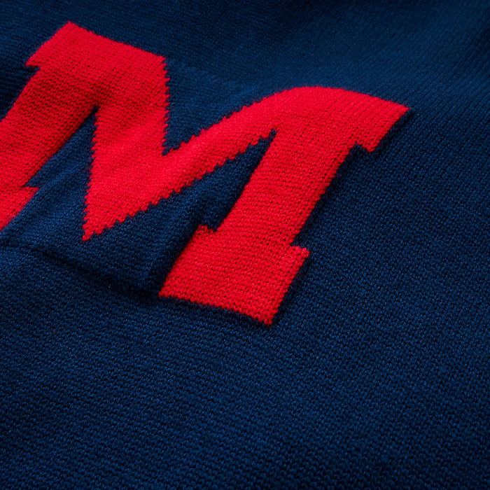 Merino Ole Miss Letter Sweater