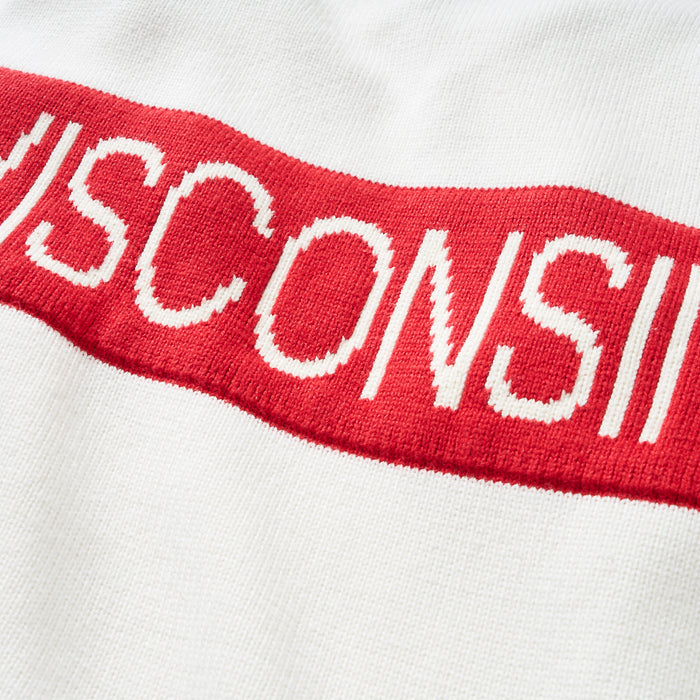 Women's Wisconsin Retro Stripe Sweater