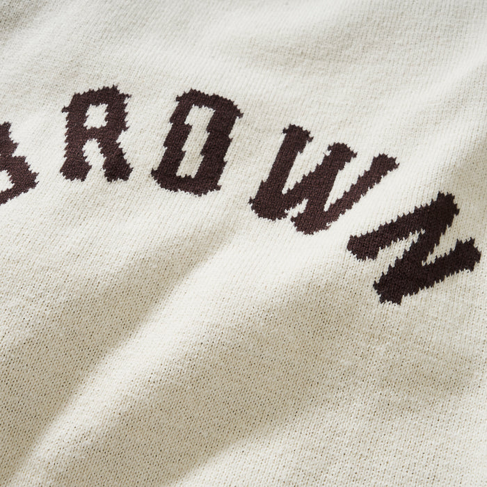 Brown Arch Sweater (Crème)