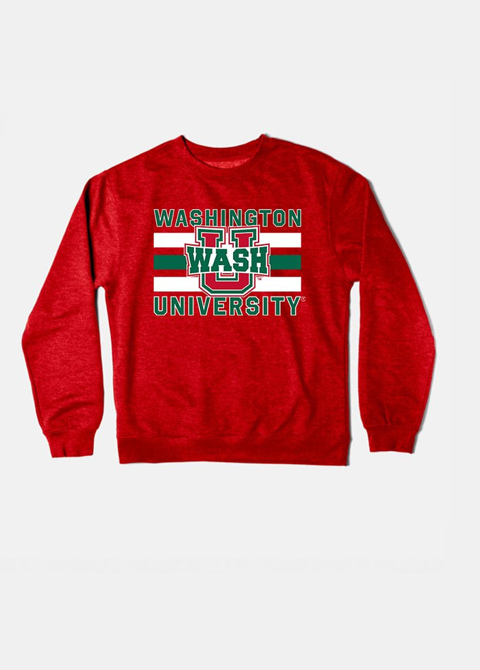 Wash U Vintage Triple Stripe Crewneck (Red)