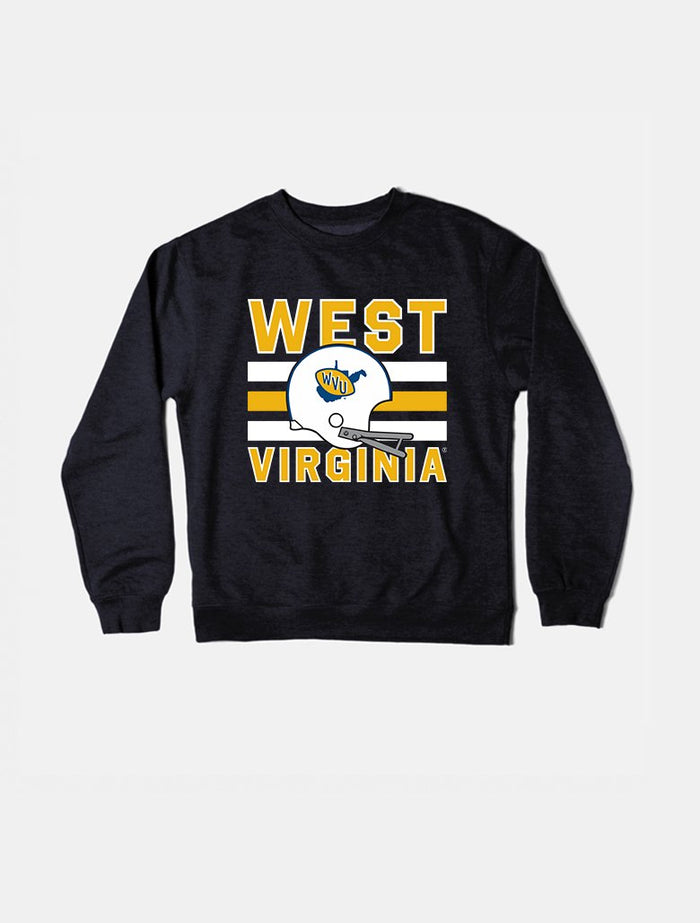 West Virginia Vintage Triple Stripe  Crewneck Sweatshirt