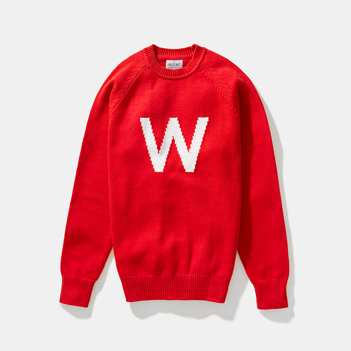 Merino Wisconsin Letter Sweater