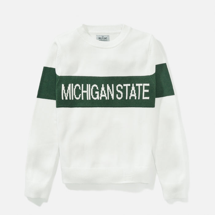 Women's Michigan State Retro Stripe Sweater