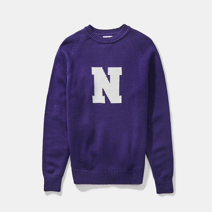 Northwestern Vintage Letter Sweater