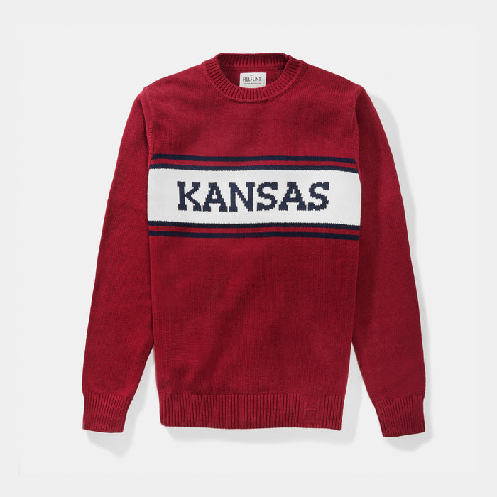 Kansas Varsity Stripe Sweater