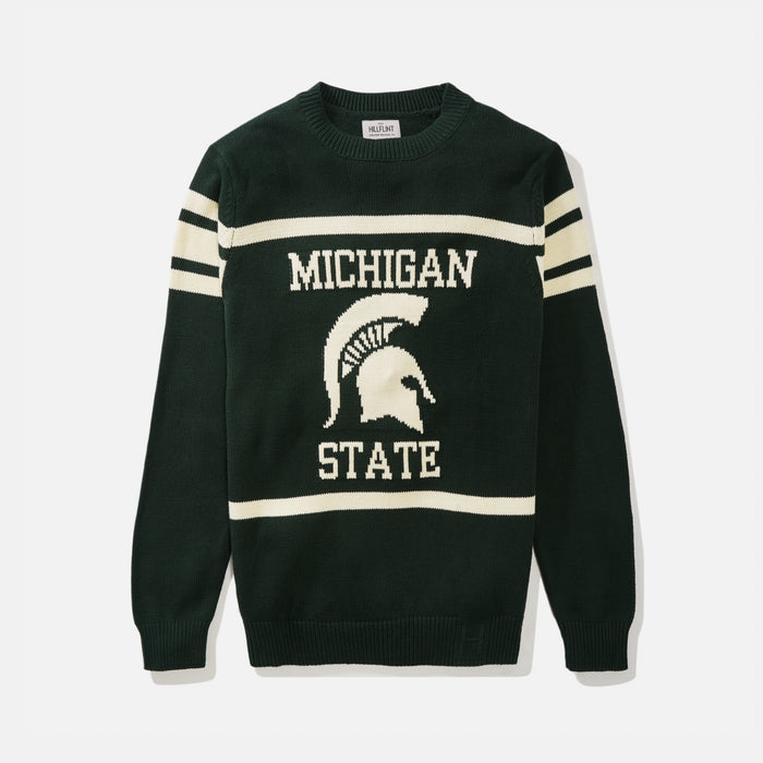 Michigan State Retro Stadium Mascot Sweater