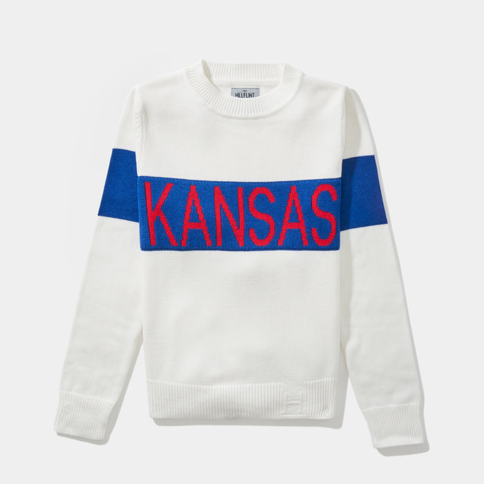 Women's Kansas Retro Stripe Sweater