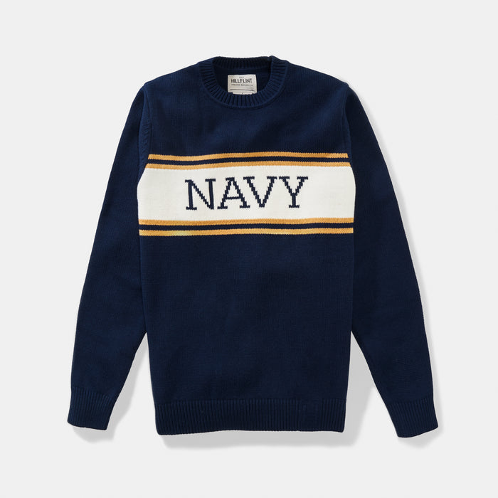 Navy Varsity Stripe Sweater