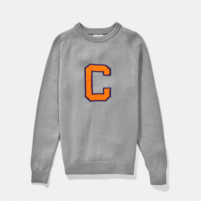 Clemson Letter Sweater (Gray)