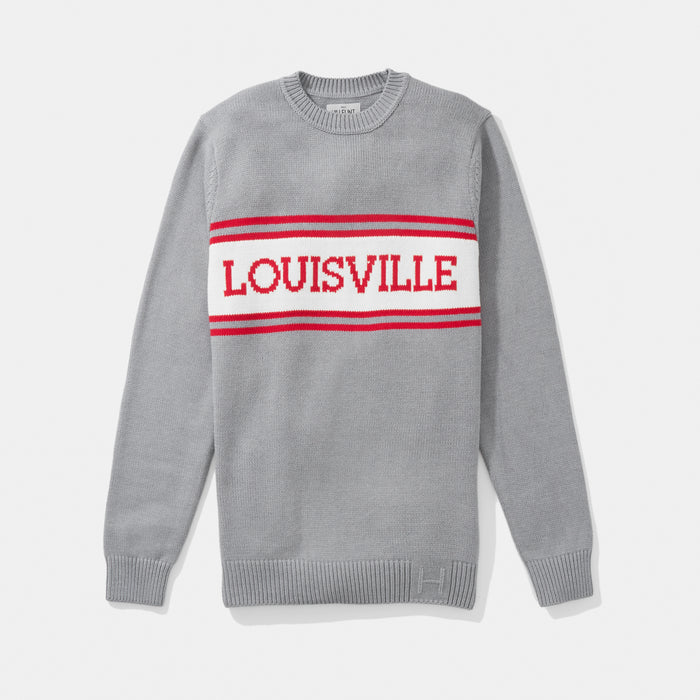 Louisville Varsity Stripe Sweater