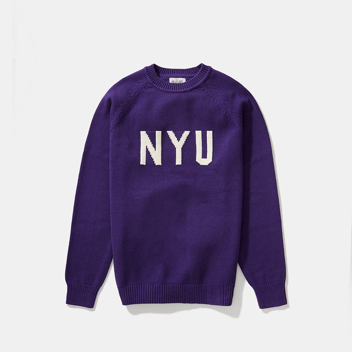 NYU Letter Sweater (Purple)