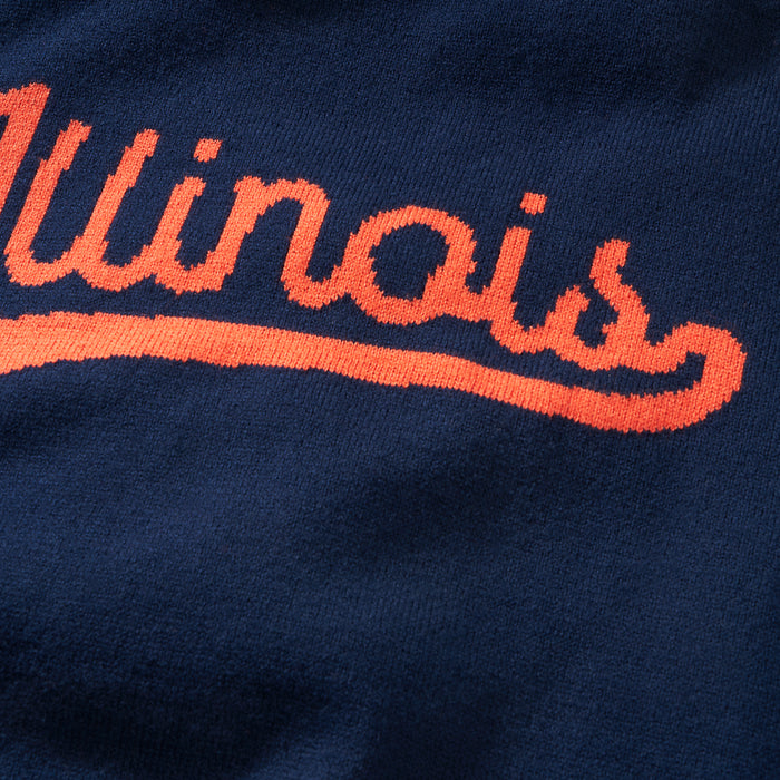 Illinois Varsity Script Sweater