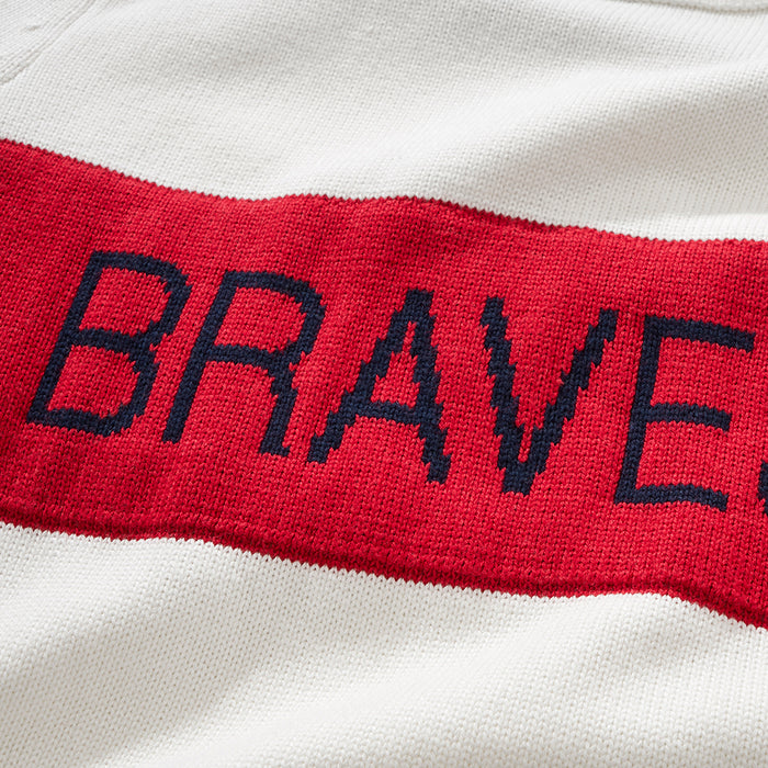 Women's Atlanta Braves Retro Stripe Sweater