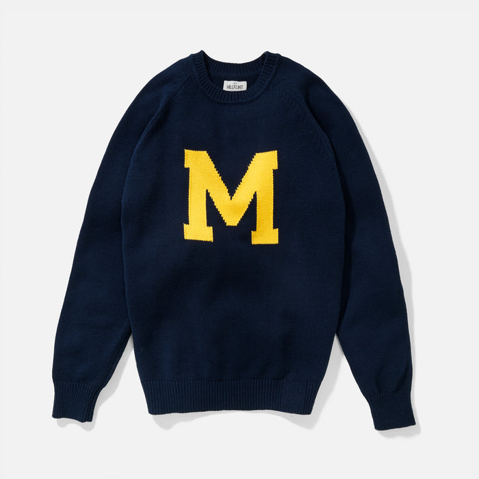 University of Michigan | Vintage Letter Sweater | Michigan Wolverines Apparel