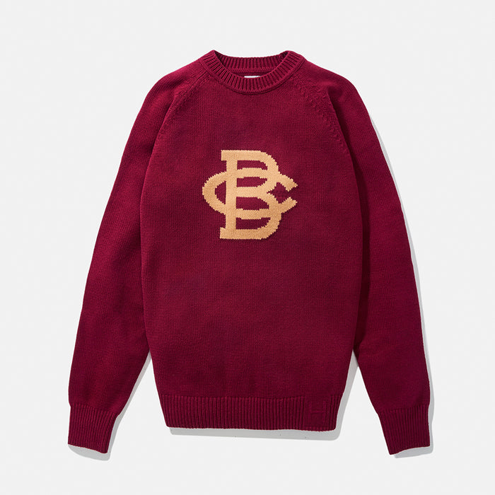 Boston College Vintage Letter Sweater