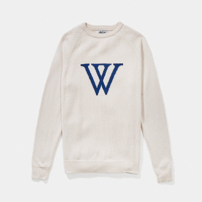 Merino Wellesley Letter Sweater