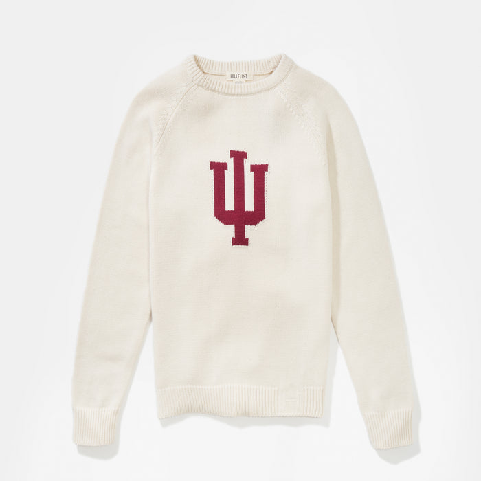 Indiana Letter Sweater (Creme)
