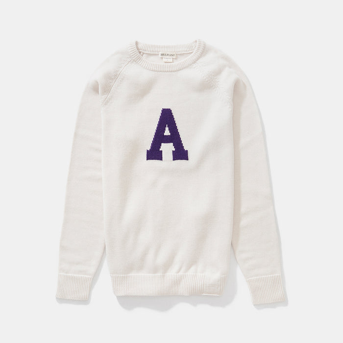 Merino Amherst Letter Sweater (Creme)