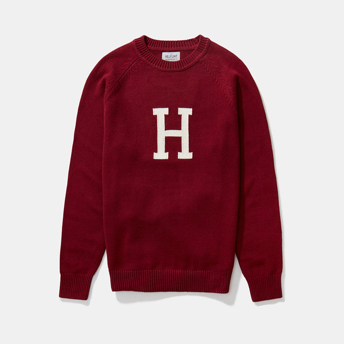 Merino Harvard Letter Sweater