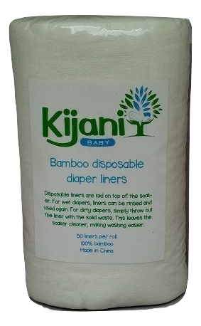 Bamboo disposable diaper liners