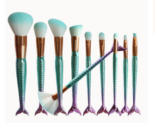 Load image into Gallery viewer, Mermaid Shaped Makeup Brushes - Offical Phoera Store