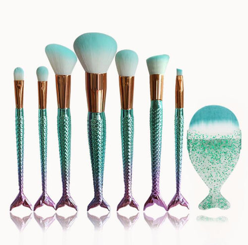Mermaid Shaped Makeup Brushes - Offical Phoera Store