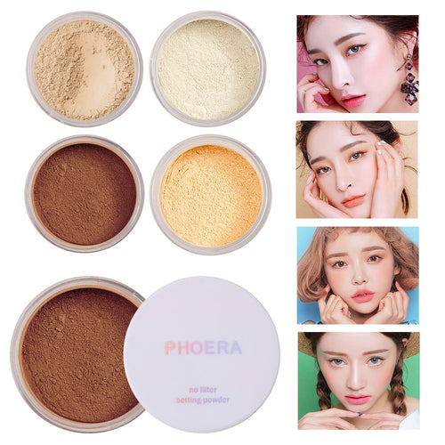 PHOERA™ Loose Face Powder Translucent Smooth Setting Foundation Makeup - Offical Phoera Store