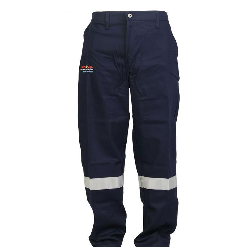 SABS MARKED - D59 Flame Retardant Navy Blue Conti Pants with Reflective