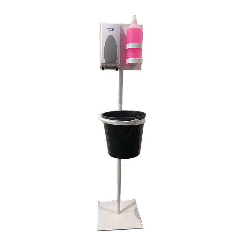 Sanitech Ecowipe and sanitizer dispenser stand