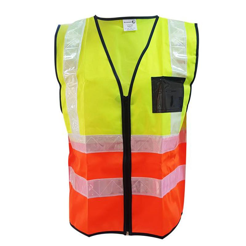 Two tone reflective Safety Vest Lime/Orange