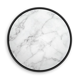 White Marble with Gold Pieces