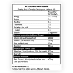 CHAOS CREW IMMUNITY Nutritional Information