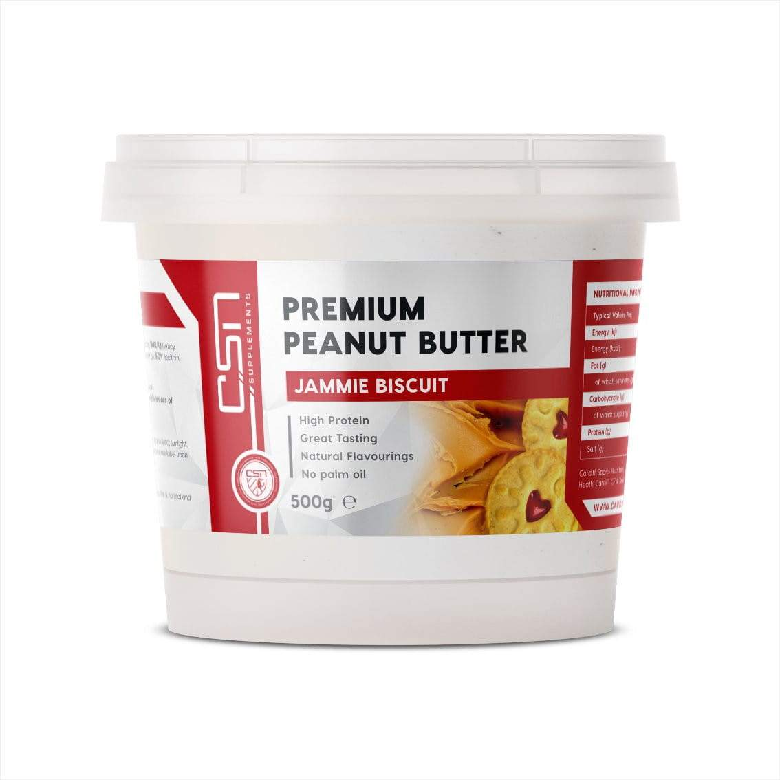 CSN Supplements Premium Peanut Butter Jammie Biscuit 500g