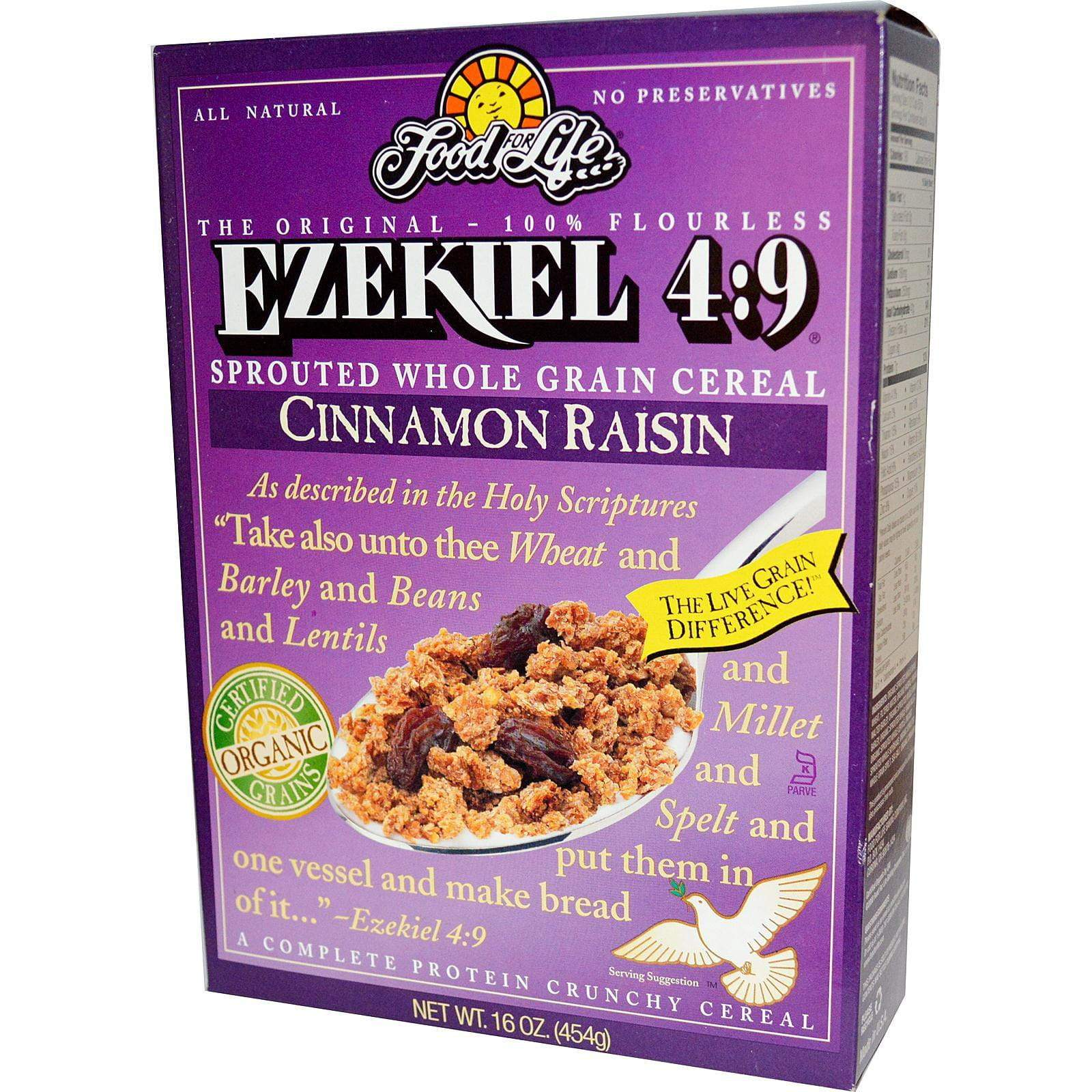 Ezekiel 4:9 Cereal Cinnamon Raisin 454g
