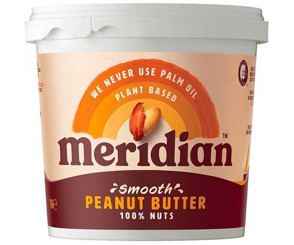 Meridian Smooth Peanut Butter 1kg No Sugar
