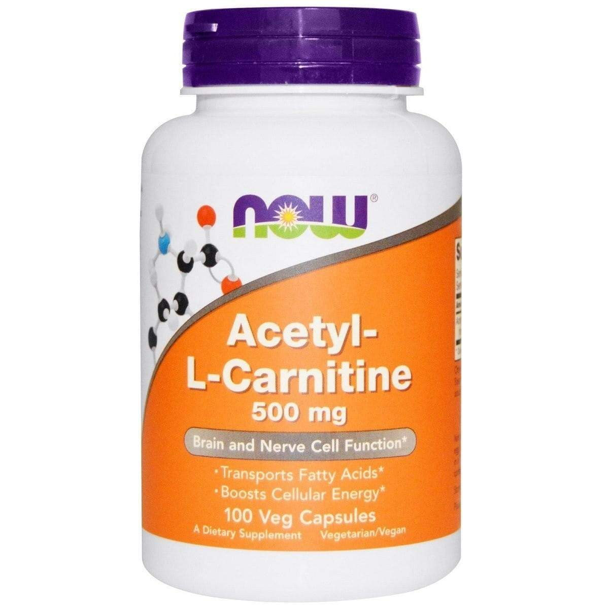 NOW Foods Acetyl-L-Carnitine 500mg 100 caps