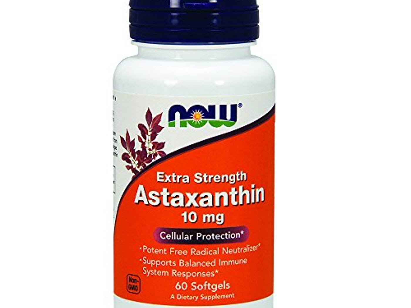 Now Foods Astaxanthin (Extra Strength) 10mg 60 Softgels