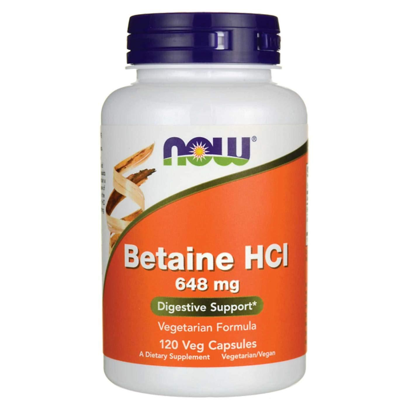 Now Foods Betaine HCl 120 Veg Caps