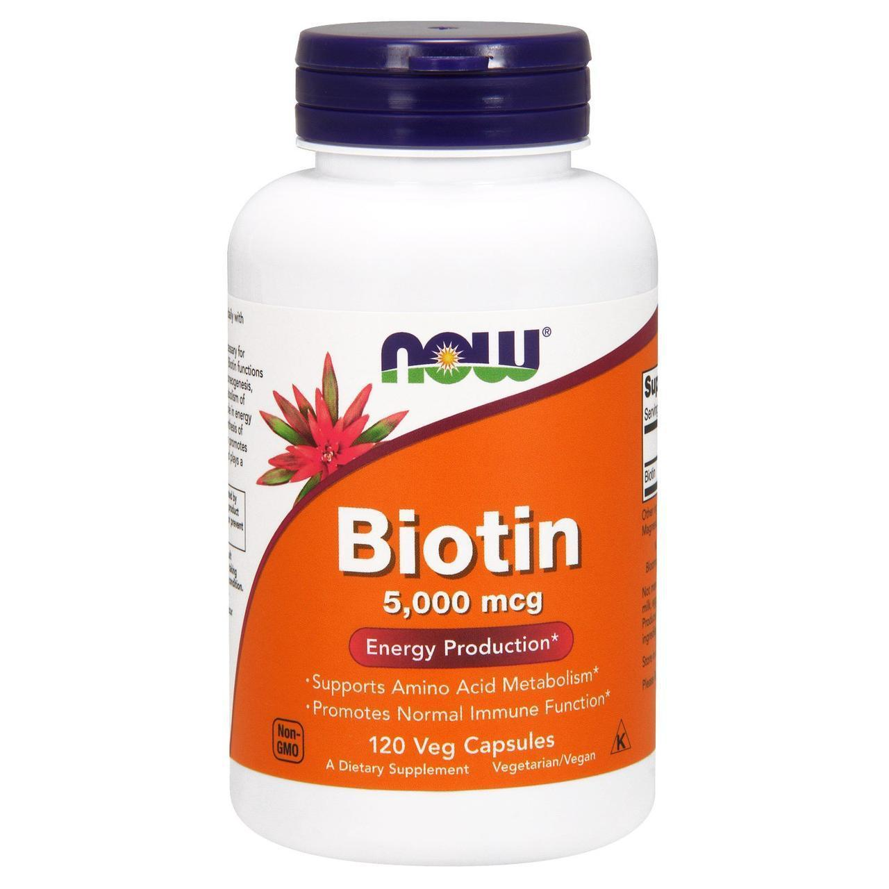 NOW Foods Biotin 5000mcg 120caps
