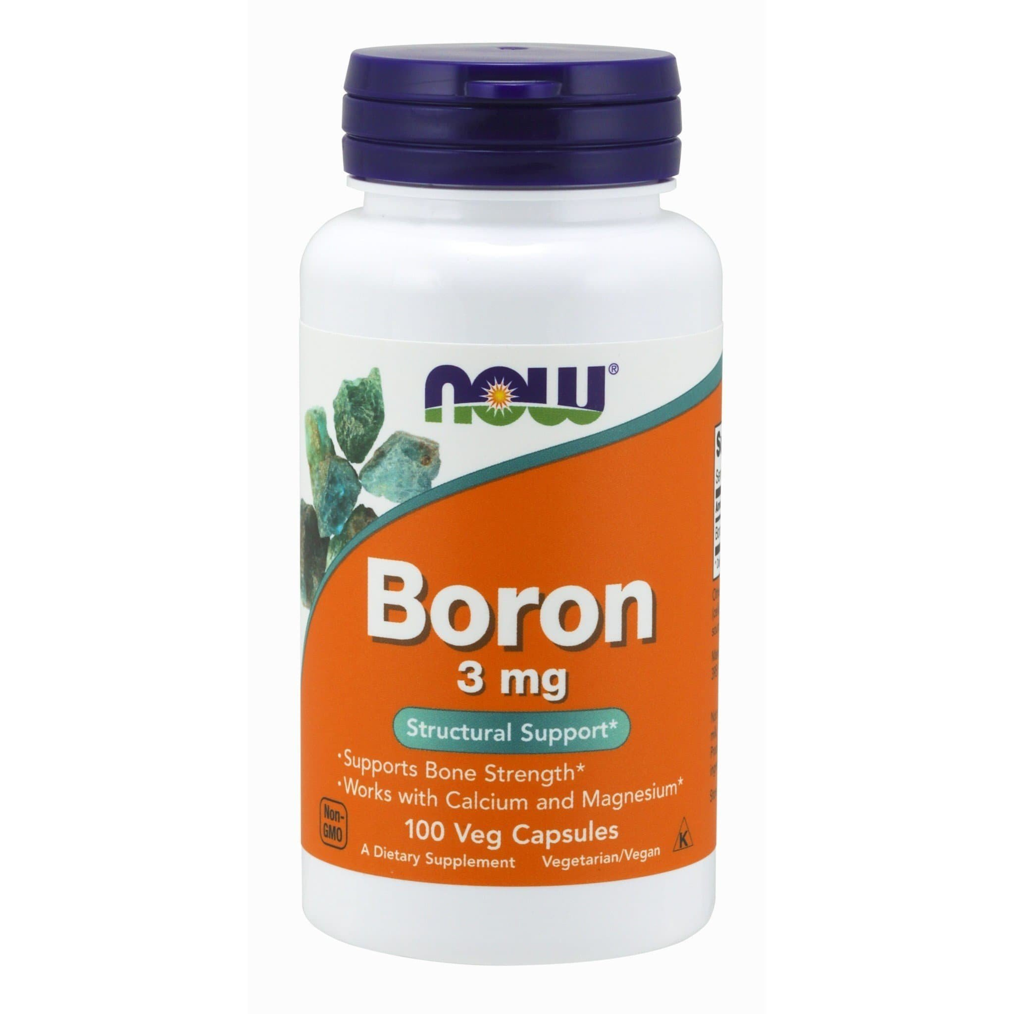 Now Foods Boron 3mg 100 Capsules