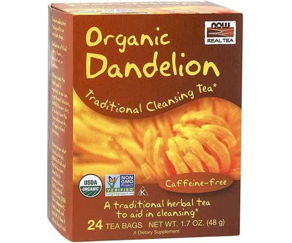 Now Foods Organic Dandelion Tea 24 Tea Bags