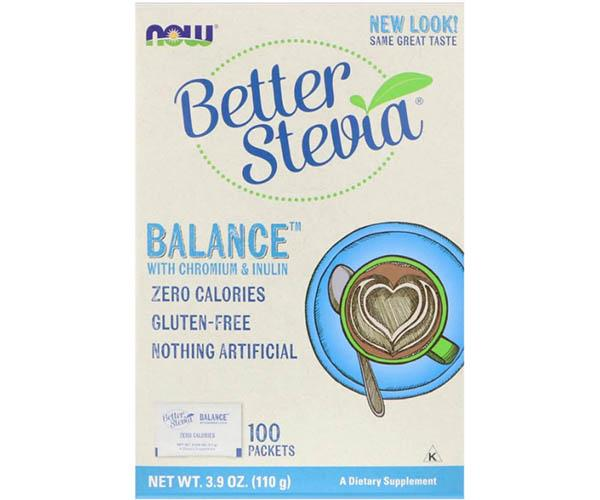 Now Foods Better Stevia Balance 0 Calorie Sweetener 100 Packets