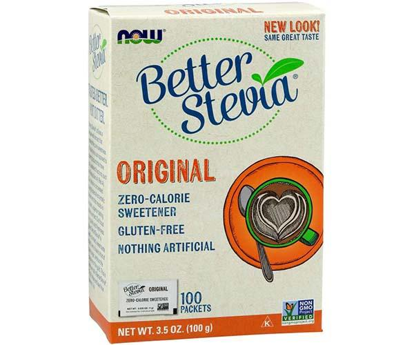 Now Foods Better Stevia original 0 Calorie Sweetener 100 Packets