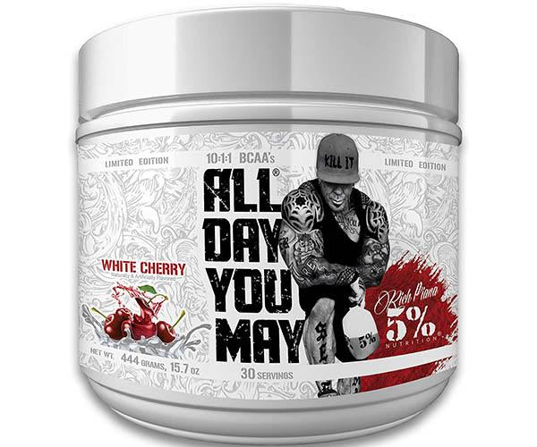 Rich Piana 5% Nutrition AllDayYouMay Limited Edition 444g + FREE SHAKER