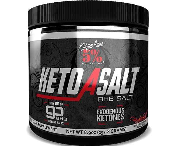 Rich Piana 5% Nutrition Keto aSALT with goBHB Salts 253g