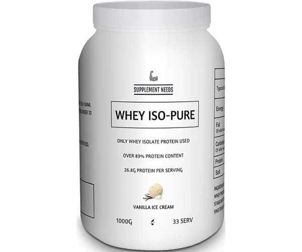Supplement Needs Whey-Iso Pure
