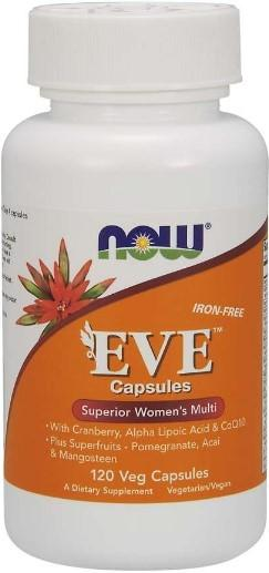 NOW Foods Eve iron free Multi-Vitamin for Women 120 Veg Caps
